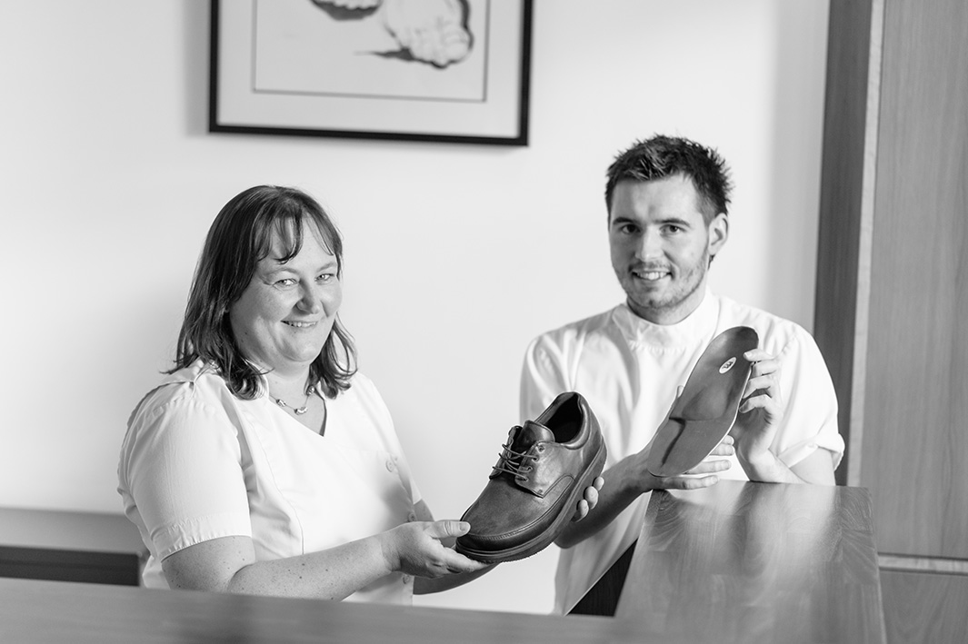 Jennifer Maxwell of the Dalkey Podiatry Clinic in Dalkey, Co. Dublin, with Brendan, McDonnell, also a podiatrist at the clinic